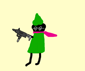 Ralsei with a gun