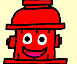 A smiling firehiderit