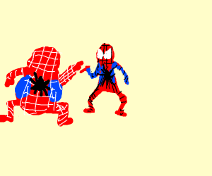 Fat spider Man vs spider man