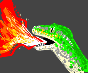 Snake breathing fire