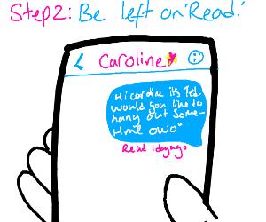 Step 1: Text Caroline
