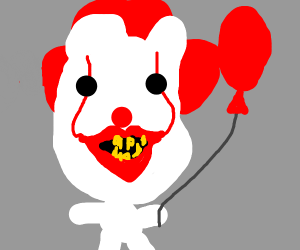 Pennywise the clown with balloon