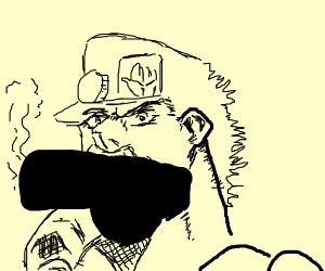 Aw crap the censored Jotaro Smoking again.