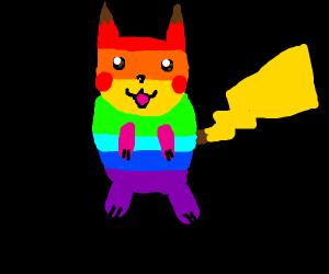 gay pride pikachu
