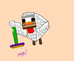 minecraft chicken moping