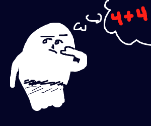 a ghost thinking about math