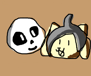 Sans and Temmie