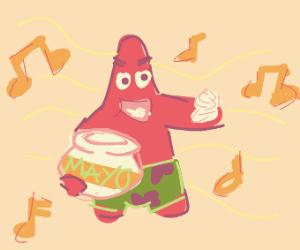 a man playing mayo