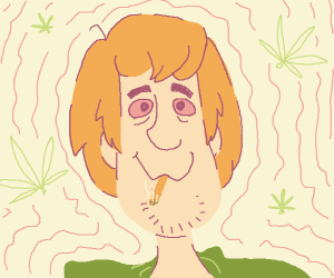 Shaggy smoking