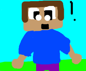 Minecraft Steve with a human body
