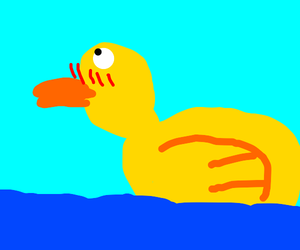 Blushing Drawception duckie