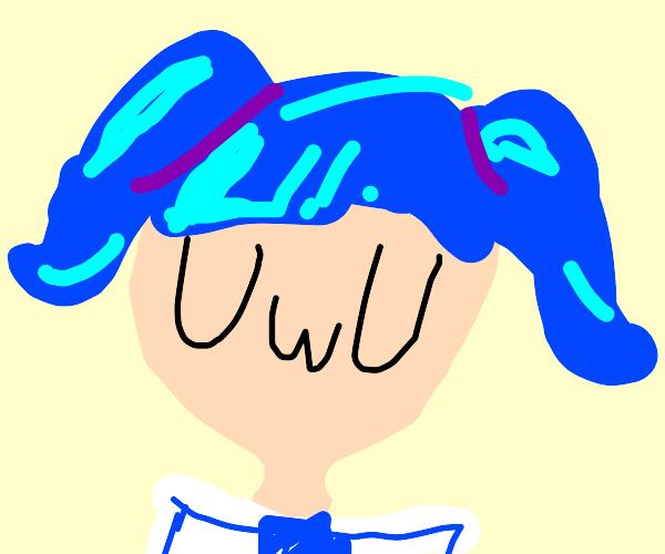 UwU blue haired girl