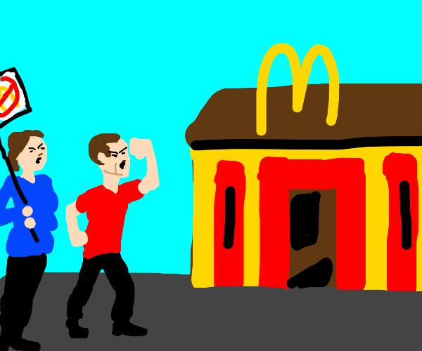 Protesting McDonalds