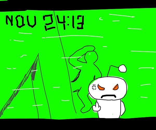 reddit snoo finally snaps live on cctv
