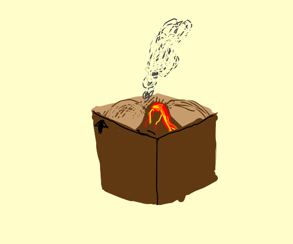 Small volcano in a box