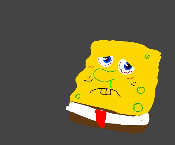 Spongebob gets sick