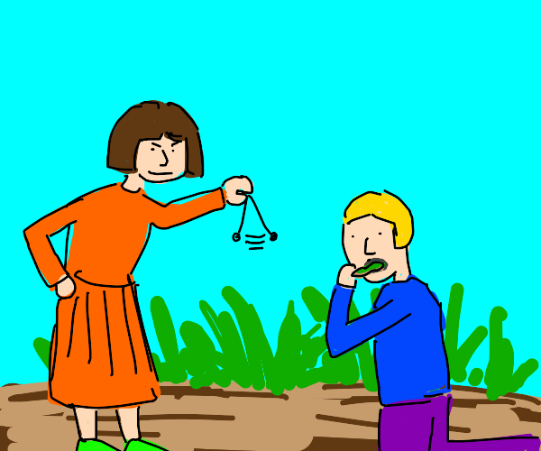 Girl hypnotizes you while eating grass + dirt