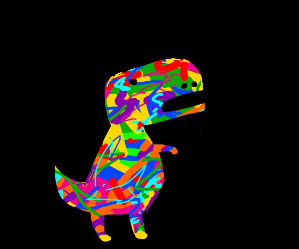 Multicolor Tyrannosaurus