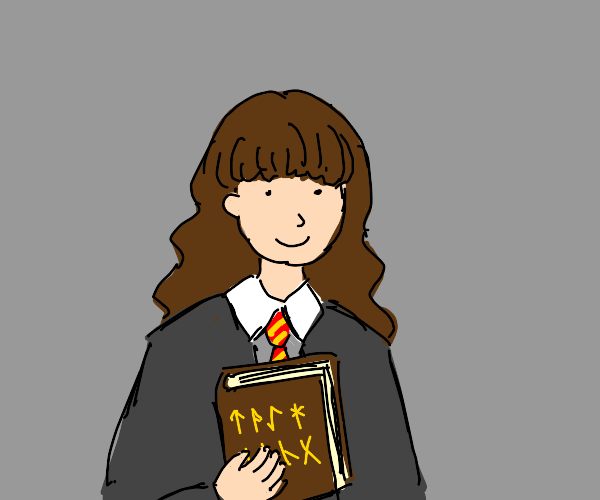hermione has a book of ancient runes