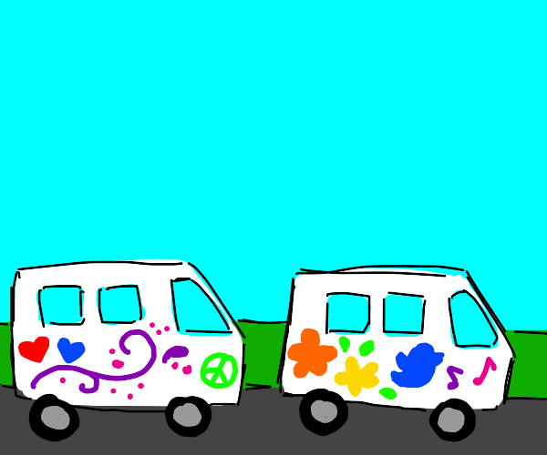 Decorated Vans