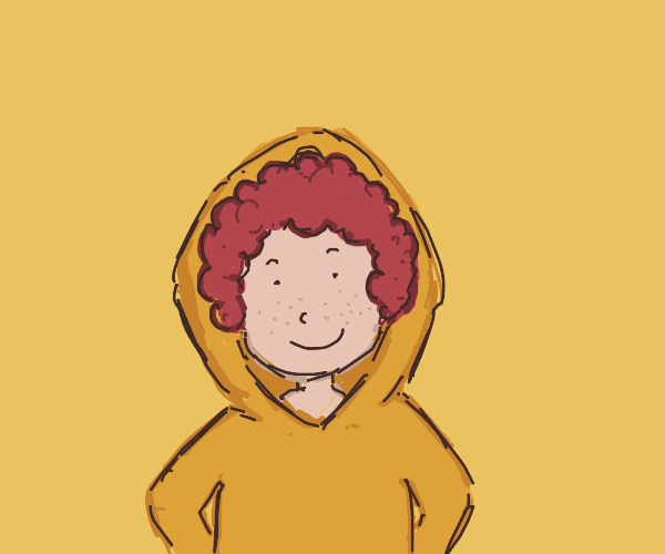 Cute red haired man on hoodie