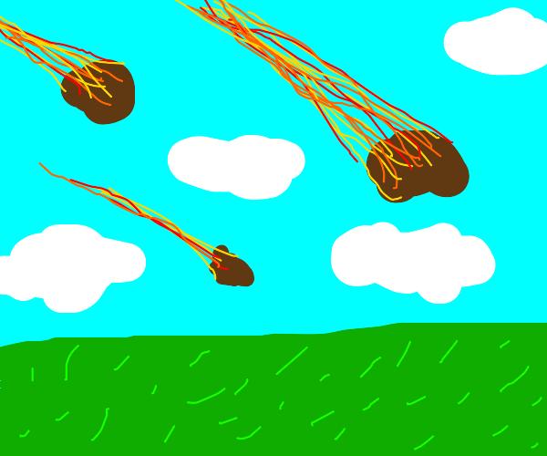 when it rains meteors