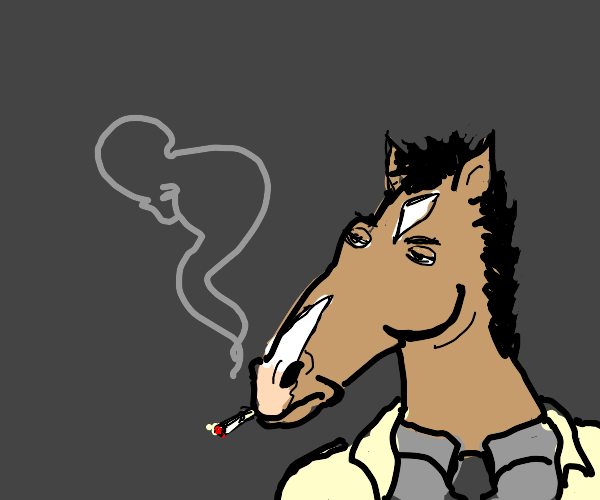 Horse thinking about killing people
