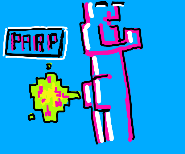Pixelated candy fart clouds