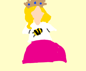 a princess in a bee shirt