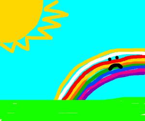 unamused rainbow