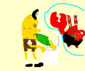 spongebob doesnt feel so good