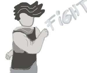 Fighting with a hand behind back