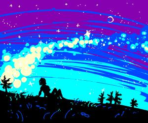 admiring the starry night