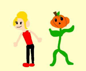 a girl and a pumpkin a pumpkin otherkin