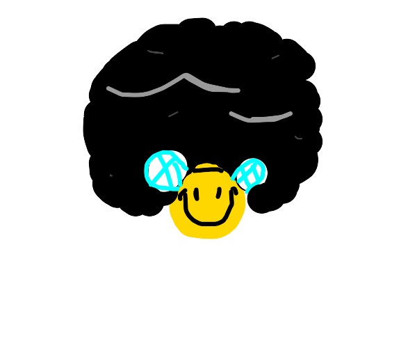 bee with afro