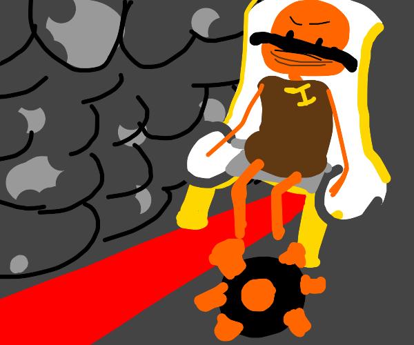 orange dictator and his pet COVID-19