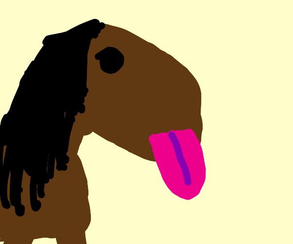 Horse Sticking Tongue Out