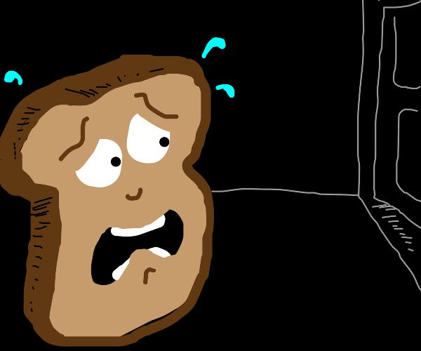Scared piece of toast