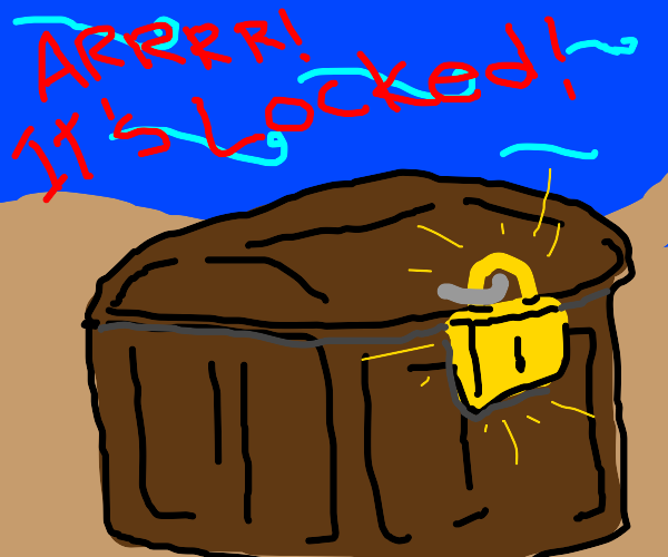 A locked treasure chest! (what could it be?)