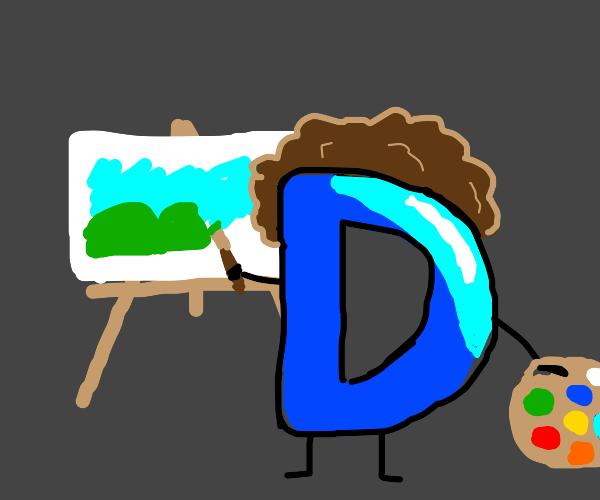 Drawception D Ross paints a happy little hill