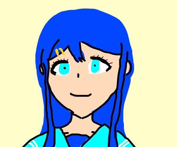 Yeah it's me the blue haired singer animegirl