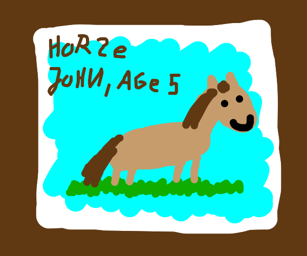 it is a horse
