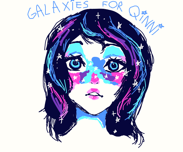 Starry-faced girl