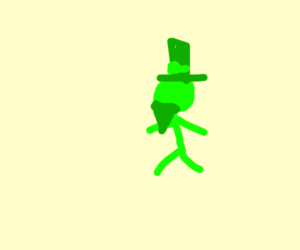 Leprechaun taking a walk