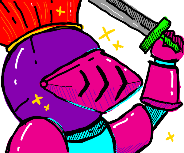 fancy colourful knight