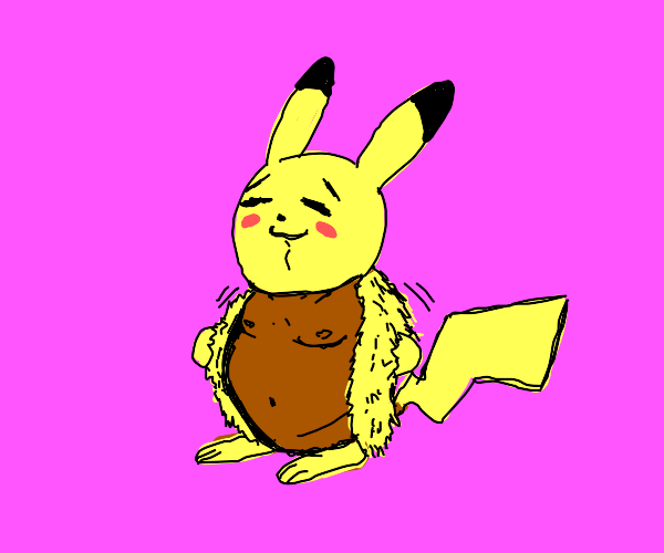 Pikachu takes off his fur coat