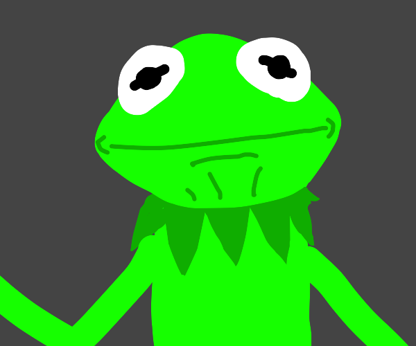 Kermit stares at you.