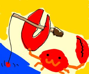 crab goes fishing