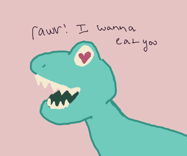 Baby dinosaur wants to eat you