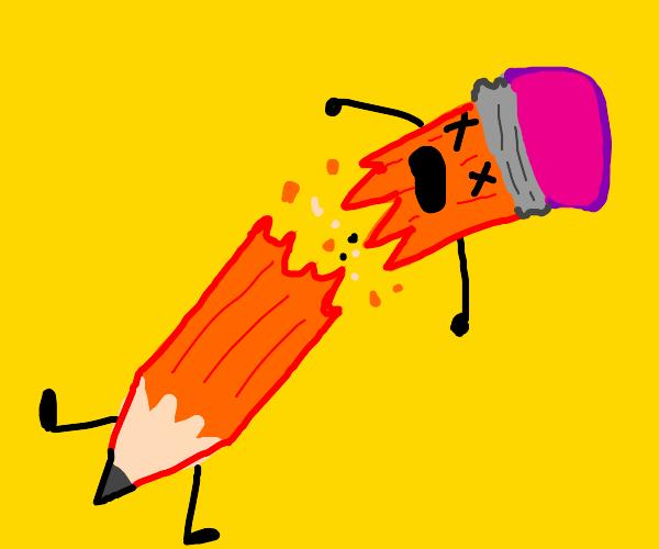 Pencil's brutal death